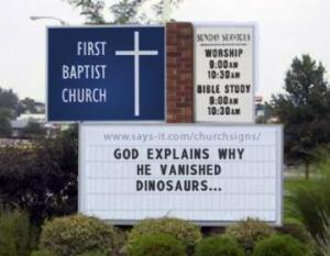 God explains why he vanished dinosaurs