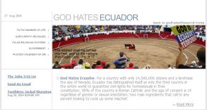 Dios odia a Ecuador