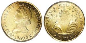 Moneda de 8 escudos conocida como Moneda de Moby Dick