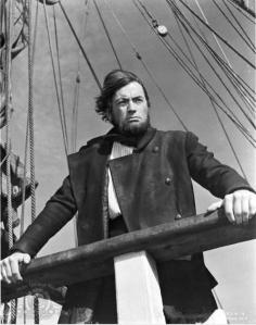 Fotograma de Gregory Peck como el Cap. Ahab