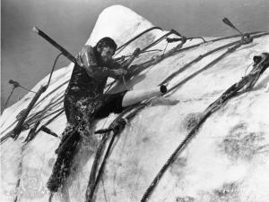 Ahab y su lucha final con el demonio marino