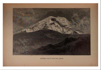 El Chimborazo desde Guaranda, provincia de Bolívar