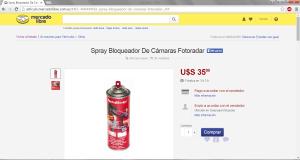 Anuncio spray anti radar